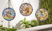"Set/3 Full Size 10"" x 11"" Fairy Sun Catchers Decor - EXCLUSIVE"