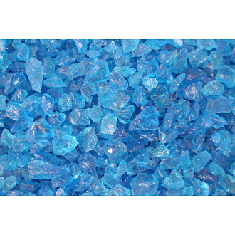 Crushed Turquoise Blue Glass For Miniature Fairy Garden - 12oz