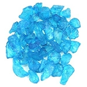 Turquoise Mini Blue Glass For Miniature Fairy Garden - 12oz