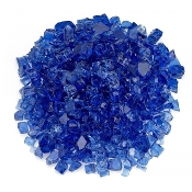 Crushed Cobalt Blue Glass For Miniature Fairy Garden - 12oz