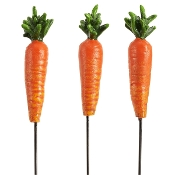 Set/3 Carrot Picks for Merriment Mini Fairy Gardening