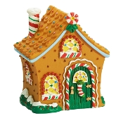 Micro Gingerbread House for Merriment Fairy Gardening