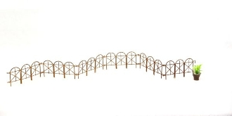 "26"" 6 Piece Rusty Arched Fence for Miniature Fairy Gardens"