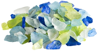 10Oz Jar of ATLANTIC MIXED Sea Glass For Fairy Gardening