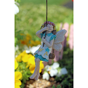 Kelsey the Swinging Fairy for Miniature Fairy Gardens