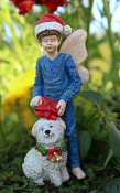 Nick the Fairy and Fluff for Miniature Fairy Gardens