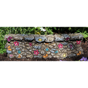 Whimsical Rock Wall Section for Miniature Fairy Gardens