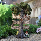 Tree Directional Sign for Miniature Fairy Gardens