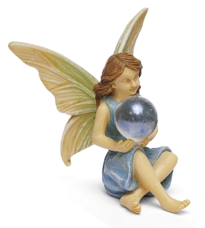 Fairy With Orb For Miniature Gardens