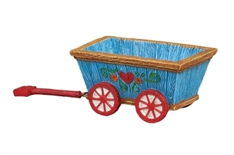 Blue Fairy Wagon for Merriment Mini Fairy Gardening