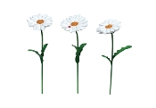 Set/3 White Daisy Picks for Merriment Mini Fairy Gardening