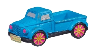 Blue Turquoise Truck for Gypsy Miniature Fairy Gardens
