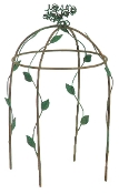 Wire and Leaf Gazebo for Miniature Fairy Gardening