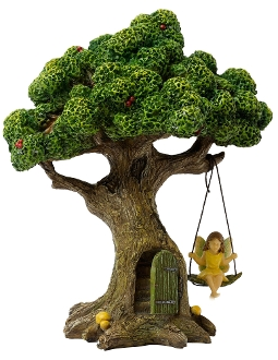 Fairy Tree House and Swing for Miniature Fairy Gardening