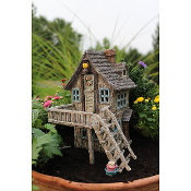 Waterside Edge Solar Home for Miniature Fairy Gardens
