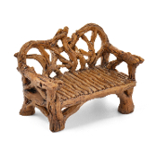 Twig Rustic Bench for Miniature Fairy Gardens 2.25""