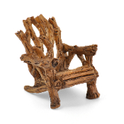Twig Rustic Adirondack Chair for Miniature Fairy Gardens 2""