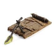 Swamp Woodland Raft w/Oar for Miniature Fairy Gardens