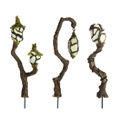 Set/3 Swamp Lanterns for Miniature Fairy Gardens