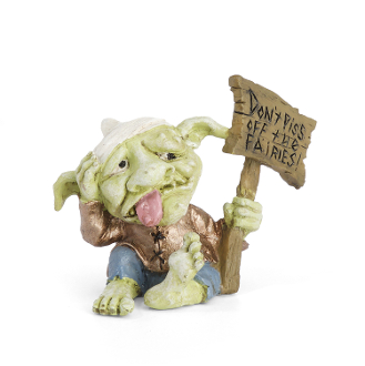DONT PISS OF THE FAIRIES Troll for Miniature Fairy Gardens