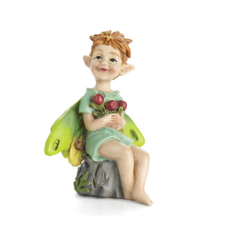 Cousin Cranberry the Swamp Fairy for Miniature Fairy Gardens
