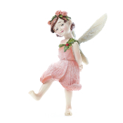 Honey Apricot Rose Fairy on Stake for Miniature Fairy Gardens