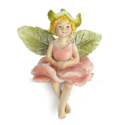 Elle Pink Rose Fairy on Stake for Miniature Fairy Gardens