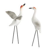 Set/2 Sandhill Crane Picks for Miniature Fairy Gardens