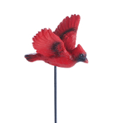 Flying Cardinal Pick for Miniature Fairy Gardens