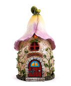 "10"" Pink Hibiscus Fairy House"