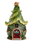 "11"" Green Leaf Fairy House"
