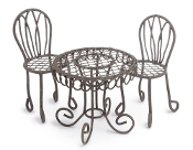 French Cafe Bistro Set For Miniature Fairy Gardens