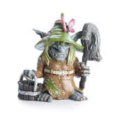 Clementine, the Charlady Troll for Miniature Fairy Gardens