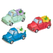 Set/3 Fairy Trucks w/Light Up Flowers for Miniature Gardens