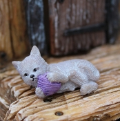 Whiskers the Fairy Cat for Miniature Fairy Gardens