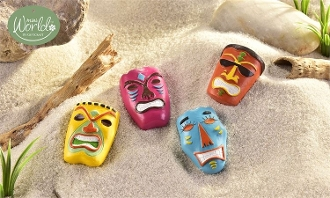 Set/4 Fairy Tiki Masks - EXCLUSIVE