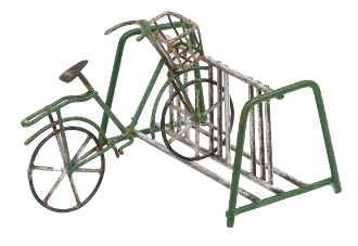 Fairy Bike and Rack - GREEN - for Miniature Fairy Gardening