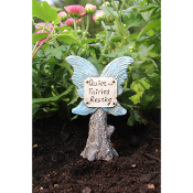 Fairy Wing Quiet Sign for Miniature Fairy Gardens