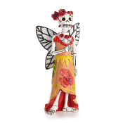 DAY OF THE DEAD Poppy Fairy Catrina for Miniature Fairy Gardens