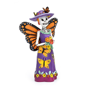 DAY OF THE DEAD Butterfly Fairy for Miniature Fairy Gardens