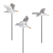 Set/3 Seagulls on Stake for Miniature Fairy Gardens