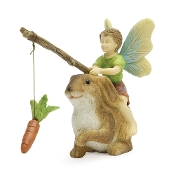 MOTIVATION Boy and Bunny for Miniature Fairy Gardening