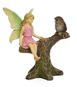 Theresa the Fairy and Owl for Miniature Fairy Gardening