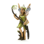 Gwyfyn Fairy with Glowing Flower For Miniature Fairy Gardens