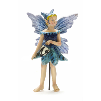 Nia the Fairy with Glowing Lantern For Miniature Fairy Gardens