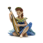 Lili the Fairy with Lute For Miniature Fairy Gardens