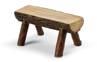 Log Rough Hewn Bench for Miniature Fairy Gardening