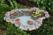 Lazy Day Frog and Koi Pond For Miniature Fairy Garden