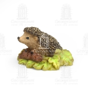 Hedgehog on Leaves for Miniature Fairy Gardens