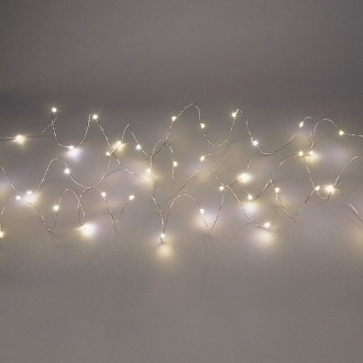 40 Rice Copper String Light Set For Miniature Fairy Gardens